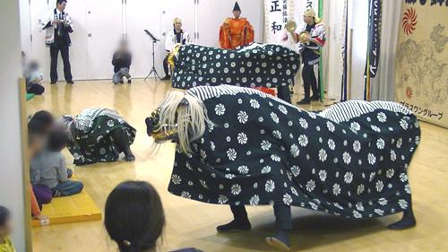 獅子舞 獅正 宝塚市・はなみずき保育園 演舞